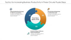 Tactics For Increasing Business Productivity In Three Circular Puzzle Steps Topics PDF