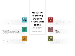 Tactics For Migrating Data To Cloud With Icons Ppt PowerPoint Presentation File Summary PDF
