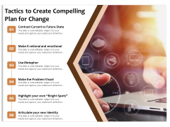 Tactics To Create Compelling Plan For Change Ppt PowerPoint Presentation File Format PDF
