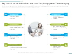 Tactics To Develop People Engagement In Organization Key General Recommendations To Increase People Engagement In The Company Slides PDF