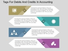 Tags For Debits And Credits In Accounting Powerpoint Template