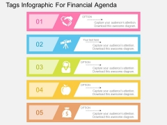 Tags Infographic For Financial Agenda Powerpoint Template