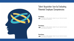 Talent Acquisition Icon By Evaluating Potential Employee Competencies Ppt Summary Introduction PDF