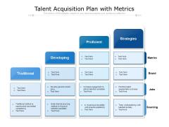 Talent Acquisition Plan With Metrics Ppt PowerPoint Presentation File Brochure PDF