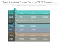 Talent Acquisition Process Example Of Ppt Presentation