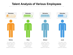 Talent Analysis Of Various Employees Ppt PowerPoint Presentation Layouts Styles PDF