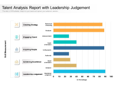 Talent Analysis Report With Leadership Judgement Ppt PowerPoint Presentation Show Infographic Template PDF