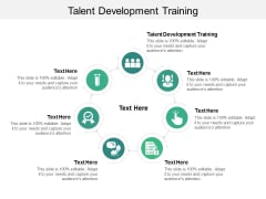 Talent Development Training Ppt PowerPoint Presentation Inspiration Master Slide Cpb