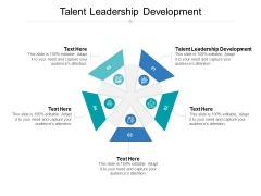 Talent Leadership Development Ppt PowerPoint Presentation Infographics Rules Cpb