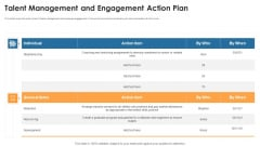Talent Management And Engagement Action Plan Introduction PDF