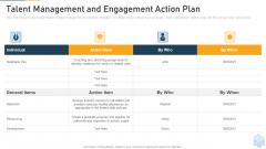 Talent Management And Engagement Action Plan Ppt Portfolio Files PDF
