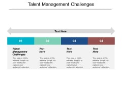 Talent Management Challenges Ppt PowerPoint Presentation Slides Gridlines Cpb