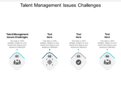 Talent Management Issues Challenges Ppt PowerPoint Presentation Slides Images Cpb