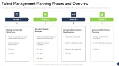 Talent Management Planning Phases And Overview Ppt Infographics Diagrams PDF