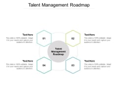 Talent Management Roadmap Ppt PowerPoint Presentation Icon Templates Cpb