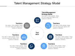 Talent Management Strategy Model Ppt PowerPoint Presentation Infographics Icons Cpb