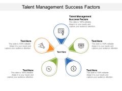 Talent Management Success Factors Ppt PowerPoint Presentation Slides Background Cpb