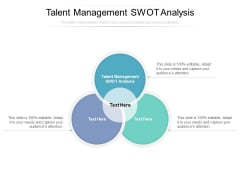 Talent Management Swot Analysis Ppt PowerPoint Presentation Layouts Graphics Cpb