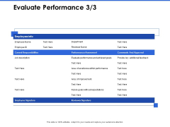 Talent Management Systems Evaluate Performance Approval Ppt File Skills PDF