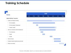 Talent Management Systems Training Schedule Ppt Slides Pictures PDF
