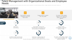 Talent Management With Organizational Goals And Employee Needs Ppt Inspiration Example File PDF