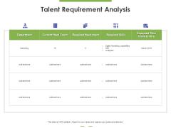 Talent Requirement Analysis Ppt PowerPoint Presentation Inspiration Designs Download PDF