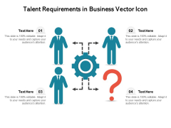 Talent Requirements In Business Vector Icon Ppt PowerPoint Presentation Inspiration Format PDF