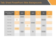 Tally Sheet Powerpoint Slide Backgrounds