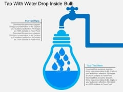Tap With Water Drop Inside Bulb Powerpoint Template