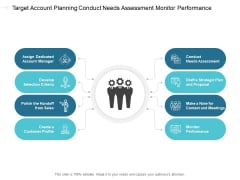 Target Account Planning Conduct Needs Assessment Monitor Performance Ppt PowerPoint Presentation Ideas Images Cpb