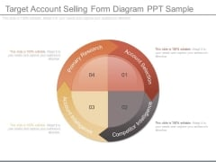 Target Account Selling Form Diagram Ppt Sample