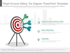 Target Account Selling Tas Diagram Powerpoint Templates