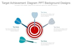 Target Achievement Diagram Ppt Background Designs
