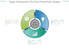 Target Achievement Pie Chart Powerpoint Shapes