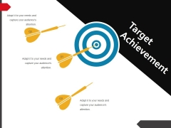 Target Achievement Ppt PowerPoint Presentation Ideas Slideshow