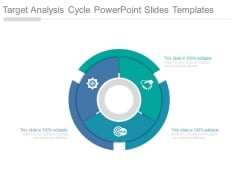 Target Analysis Cycle Powerpoint Slides Templates