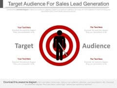 Target Audience For Sales Lead Generation Ppt Slides