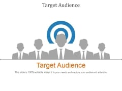 Target Audience Ppt PowerPoint Presentation Slides