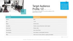Target Audience Profile Characteristics Ppt PowerPoint Presentation Pictures Objects PDF