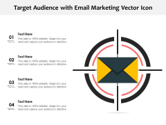 Target Audience With Email Marketing Vector Icon Ppt PowerPoint Presentation Professional Introduction PDF