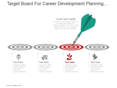 Target Board For Career Development Planning Ppt PowerPoint Presentation Visual Aids