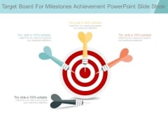 Target Board For Milestones Achievement Powerpoint Slide Show
