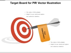 Target Board For PIR Vector Illustration Ppt PowerPoint Presentation Gallery Graphic Images PDF