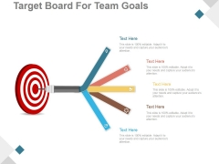 Target Board For Team Goals Ppt PowerPoint Presentation Infographic Template