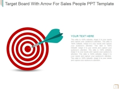 Target Board With Arrow For Sales People Ppt PowerPoint Presentation Show