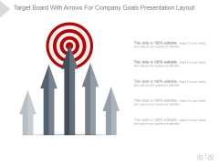 Target Board With Arrows For Company Goals Ppt PowerPoint Presentation Themes