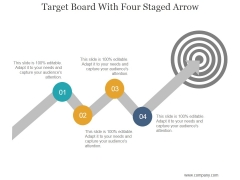 Target Board With Four Staged Arrow Ppt PowerPoint Presentation Show