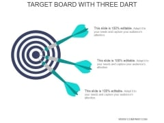 Target Board With Three Dart Ppt PowerPoint Presentation Icon