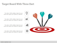 Target Board With Three Dart Ppt PowerPoint Presentation Infographics Example