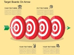 Target Boards On Arrow Powerpoint Templates